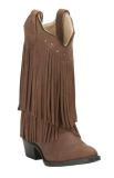 Wide Calf Boots With Fringe