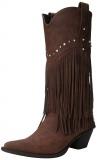 Wide Calf Stud Fringe Boots