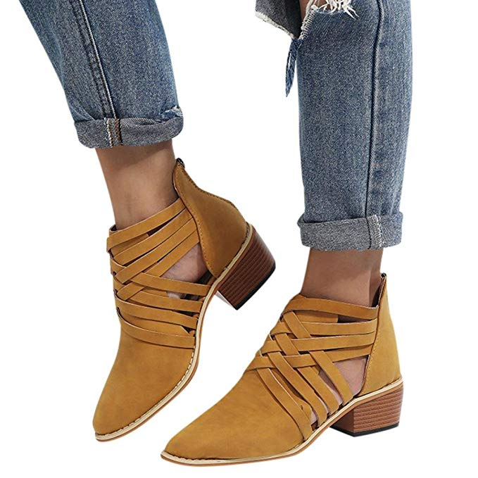 0ff0265476fa Women s Ankle Boots Low Heel