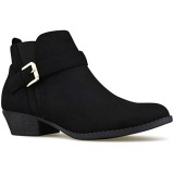 Black Ankle Boots Low Heel