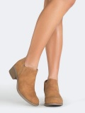Brown Ankle Boots Low Heel