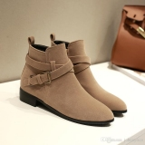 Flat Ankle Boots With Low Heel