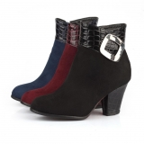Ladies Low Heel Ankle Boots