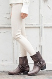 Women's Grey Harness Boots