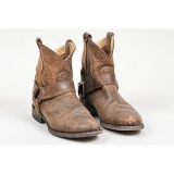 Women's Leather Harness Boots