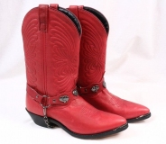 Women's Red Harness Boots