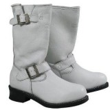 Women's White Harness Boots