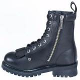 Zipped Logger Boots For Women