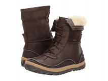 Brown Pull On Snow Boots