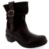 Black Pull On Snow Boots