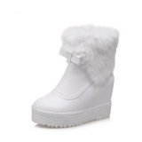 White Pull On Snow Boots Women