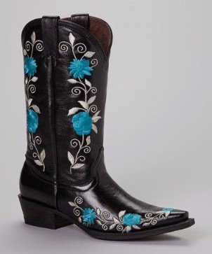 Black and Blue Cowgirl Boots