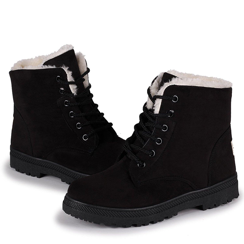 Black Winter Boots Women's Shoes
