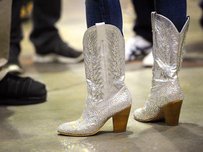 hvit sparkly cowgirl støvler outlet