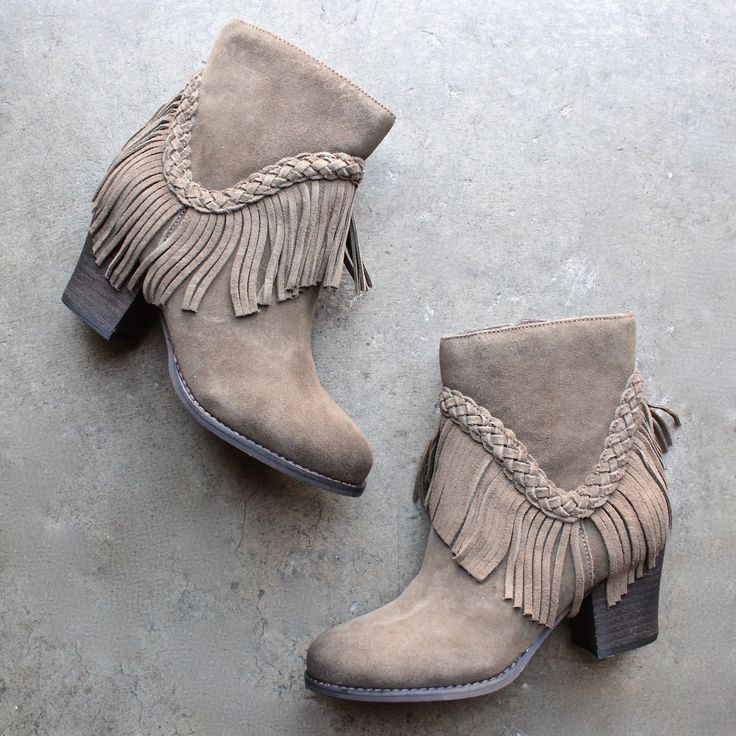 Cute Fringe Ankle Boots