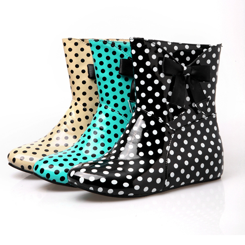Cute Wedge Rain Boots