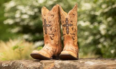 Cowgirl Wide Calf Boots with Crosses