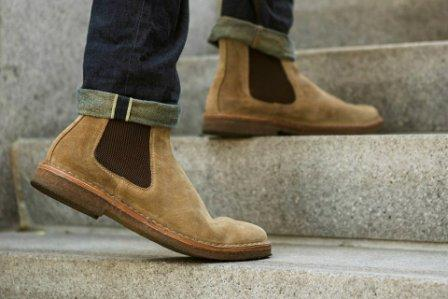 Mens Tan Suede Chelsea Boots