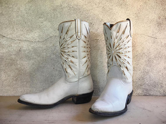 Vintage Cowgirl Wedding Boots
