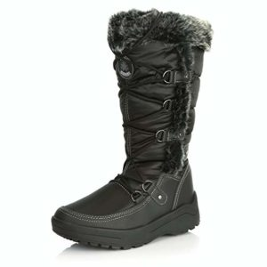 Women's Black Eskimo Boots with Fur