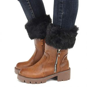 Ankle Fur Top Boots