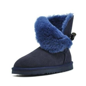 Leather Snow Boots With Fur