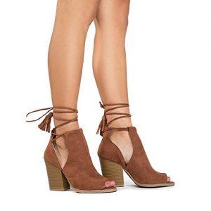 Cutout Boots Peep Toe