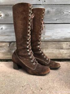 Knee High Vintage Lace Up Boots