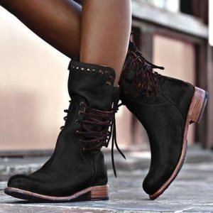 Lace Up Women's Vintage Boots