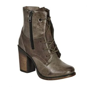 Vintage Distressed Lace Up Boots For Women