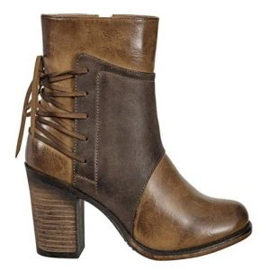 Vintage Lace Up Chunky Heel Boots