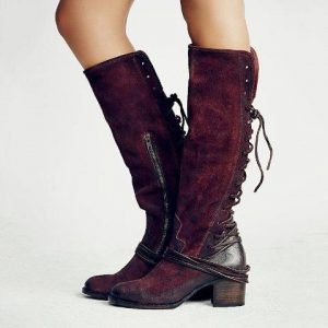 Vintage Lace Up European Style Boots