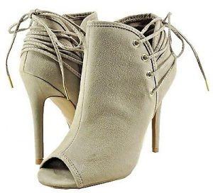 Women's Peep Toe Cutout Booties