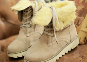 Women's Snow Boots With Fleece Lining