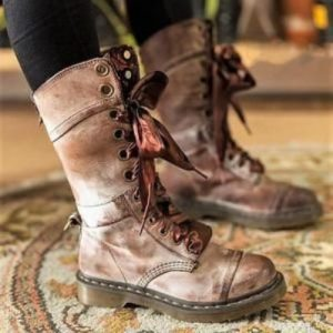 Women's Vintage Lace Up Leather Boots