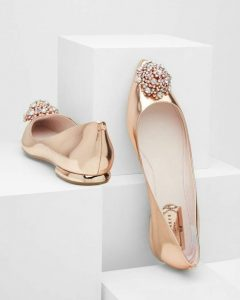 Best Gold Pointed Toe Flats