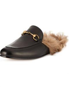 Fur Lined Mens Mule Slippers