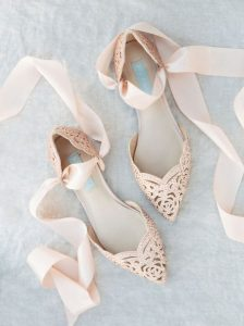 Gold Pointed Toe Wedding Shoes