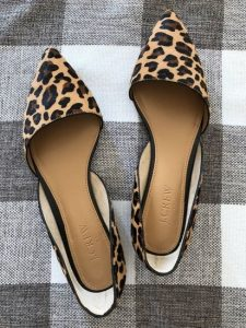 Leopard Flats Pointed Toe