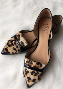 Leopard Print Flats Pointed Toe