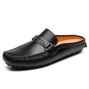 Mens Black Mule Slippers