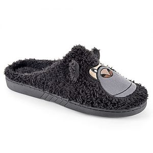 Mens Fluffy Mule Slippers