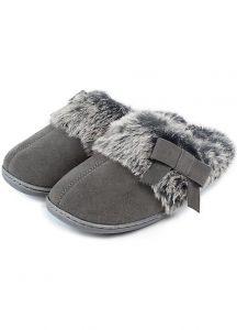 Mens Grey Mule Slippers