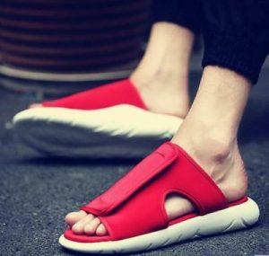 Mens Open Toe Mule Slippers