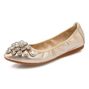 Pointed Toe Flats Gold