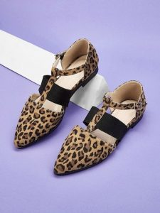 Pointed Toe Flats Leopard Print