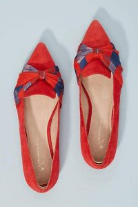 Pointed Toe Flats Red