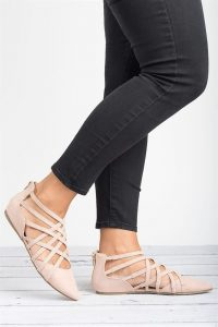 Pointed Toe Strappy Flats