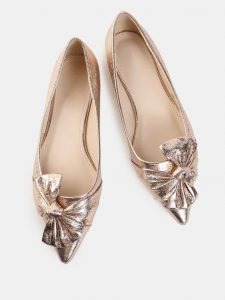 Rose Gold Pointed Toe Flats