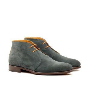 Round Toe Gray Chukka Boots